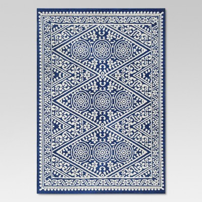 5' x 7' Tapestry Outdoor Rug Blue - Threshold™