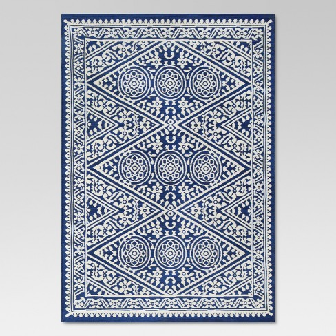 5 X 7 Tapestry Outdoor Rug Blue Threshold Target