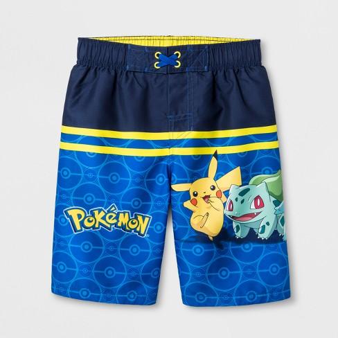3cdbc5f0cd Boys' Pokemon Swim Trunks - Blue L : Target