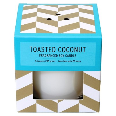 Boxed Glass Candle Toasted Coconut 4.4oz - Soho Brights