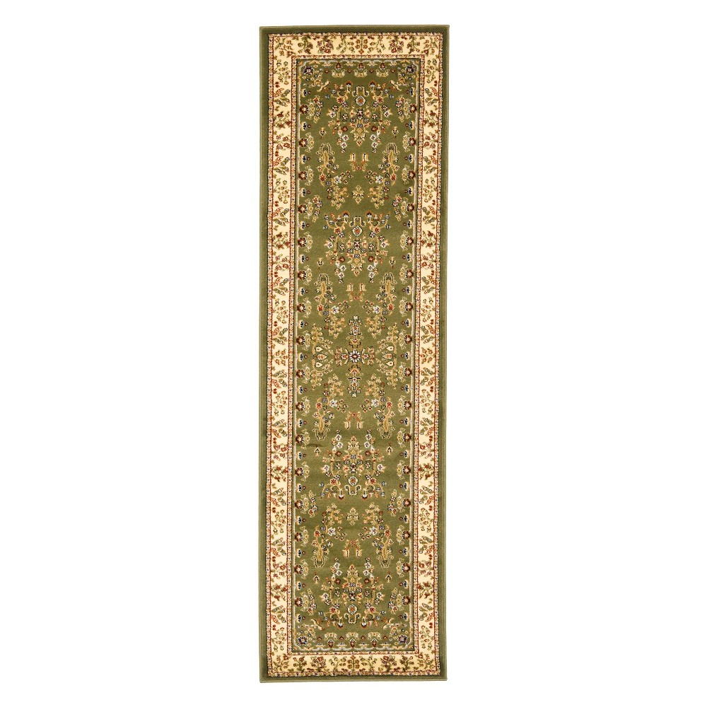 2'3X22' Floral Loomed Runner Sage/Ivory (Green/Ivory) - Safavieh
