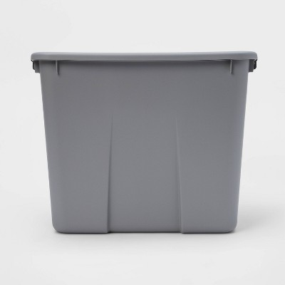 20gal Latching Tote Gray - Room Essentials™