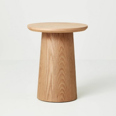 Round Wood Pedestal Accent Table - Hearth & Hand™ with Magnolia