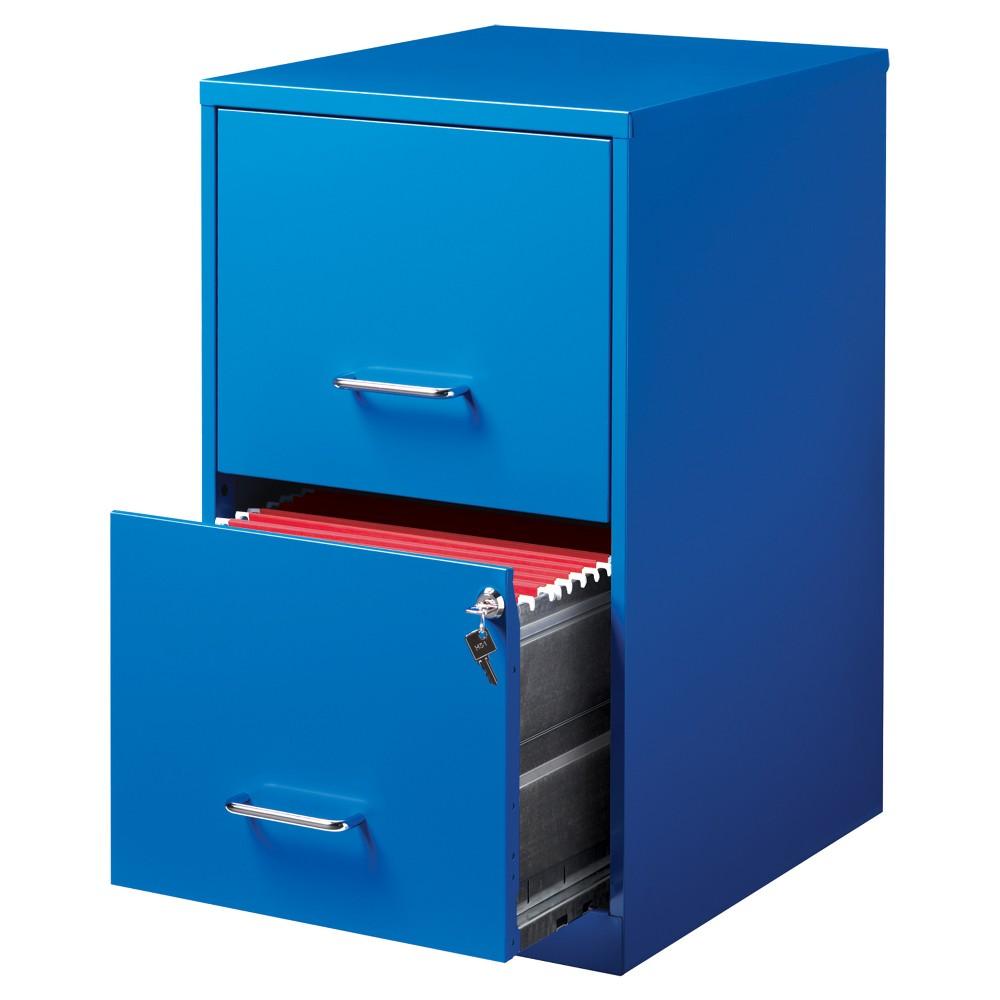 Hirsh 2 Drawer File Cabinet Letter - Blue