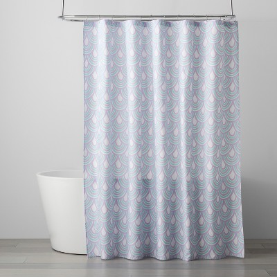 555b1d71b0c8 Scalloped Shower Curtain Crystalized Green Shy Lavender – Pillowfort ...