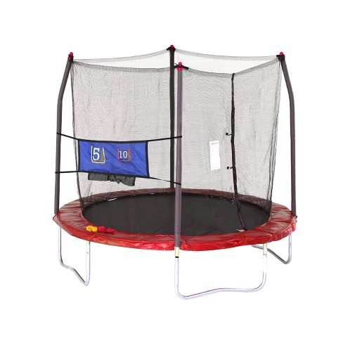 Skywalker Trampolines 8' Round Jump-N-Toss Trampoline with Enclosure - Red - image 1 of 6