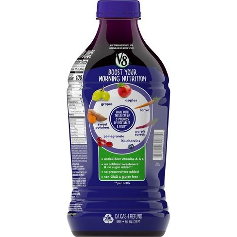 V8 V-Fusion Pomegranate Blueberry Fruit & Vegetable Juice - 46 fl oz Bottle