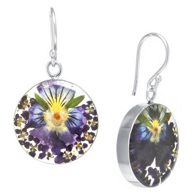 Fine Jewelry Earring Sterling Dark Purple