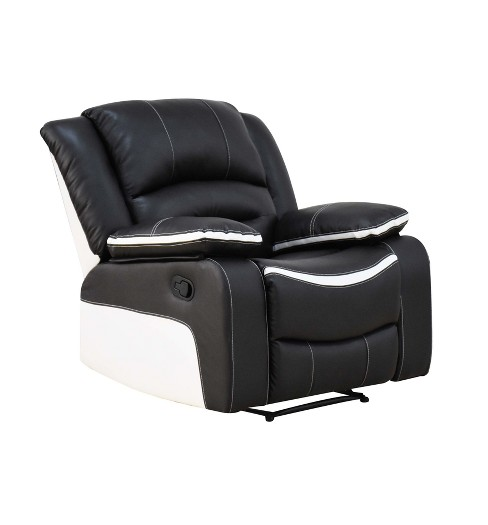 Broderick Recliner Black and Cream - Acme - image 1 of 7
