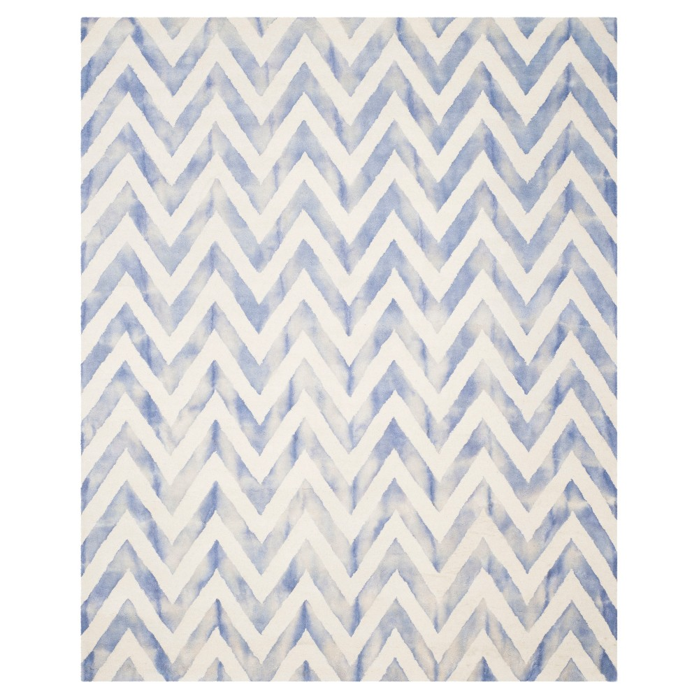 6'X9' Dip Dye Design Area Rug Ivory/Blue - Safavieh