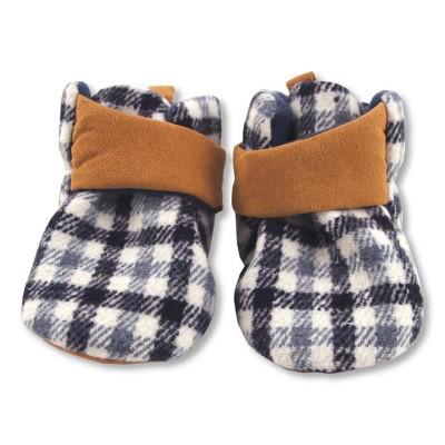 Baby Boys' Plaid Wrap Around Slippers - Cat & Jack™ Blue