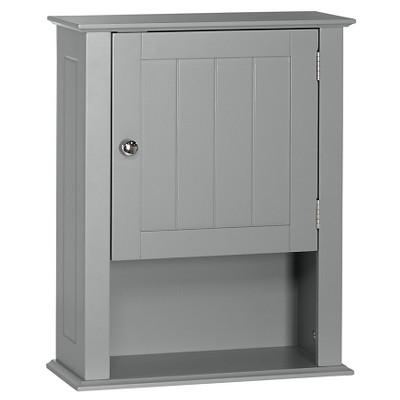 Ashland Collection - Single Door Wall Cabinet - Gray - RiverRidge®