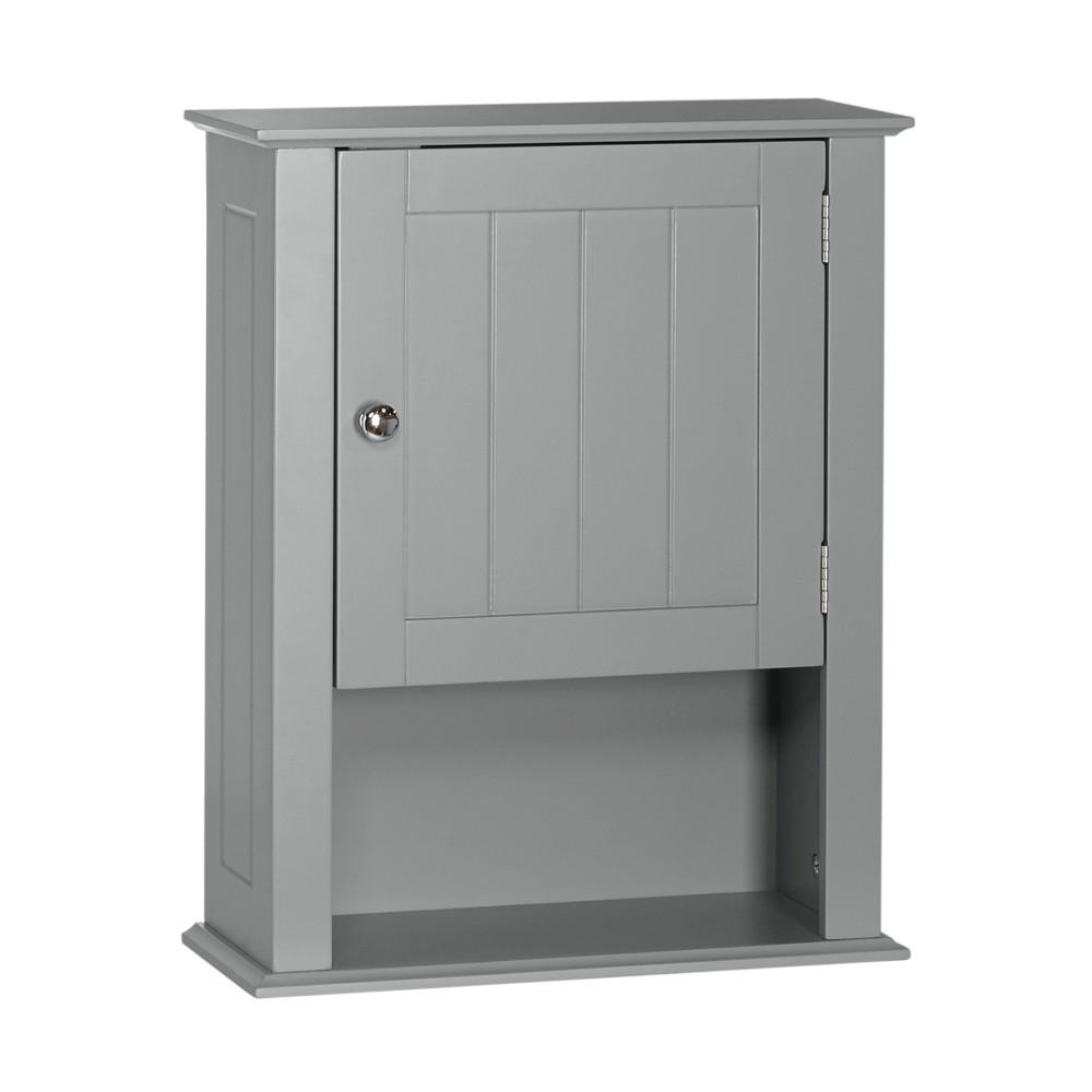 Ashland Collection - Single Door Wall Cabinet - Gray - RiverRidge