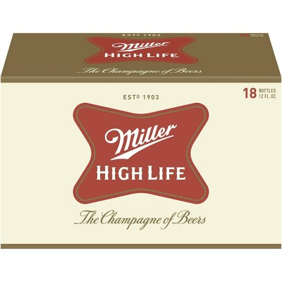 Miller High Life Beer - 18pk/12 fl oz Bottles