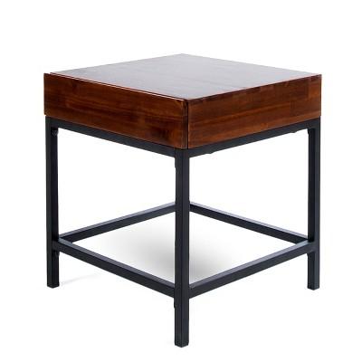 Ebany Industrial Side Table Dark Oak - Christopher Knight Home