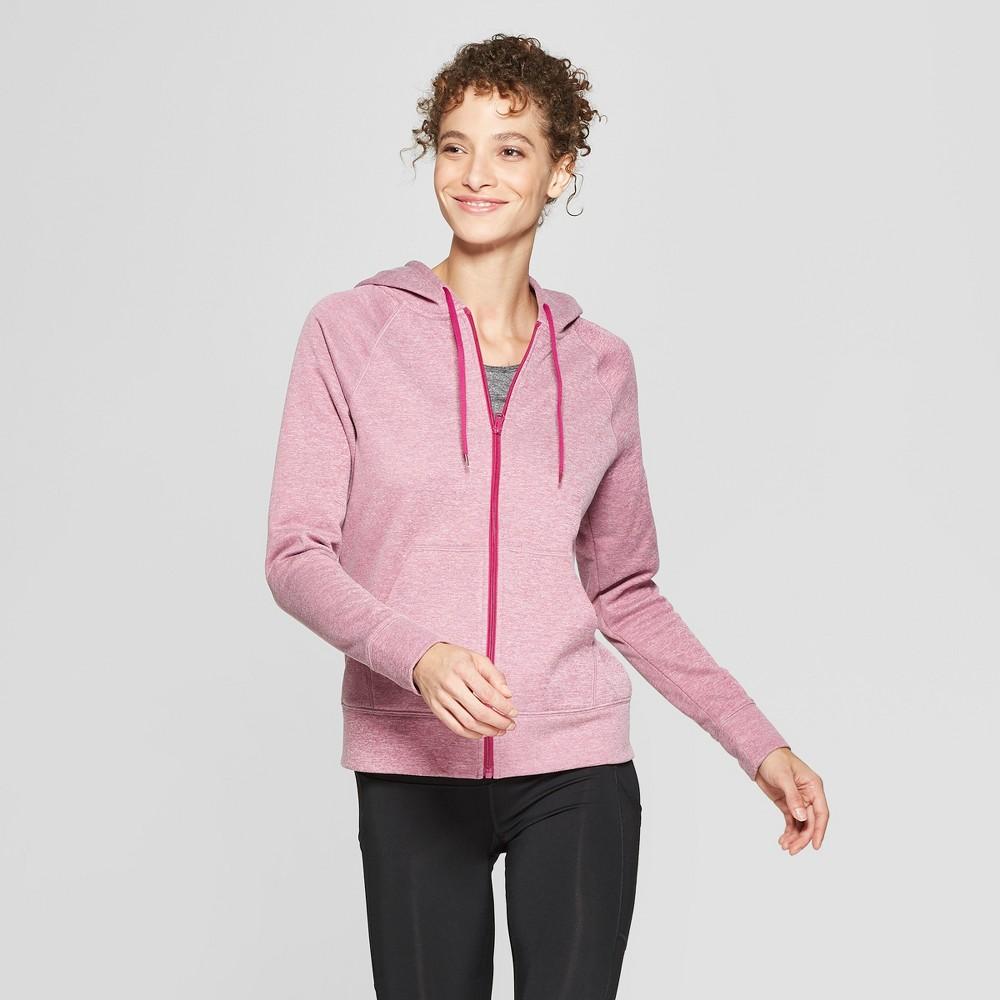 Women's Tech Fleece Full Zip Sweatshirt - C9 Champion Magenta Zeal Heather XL
