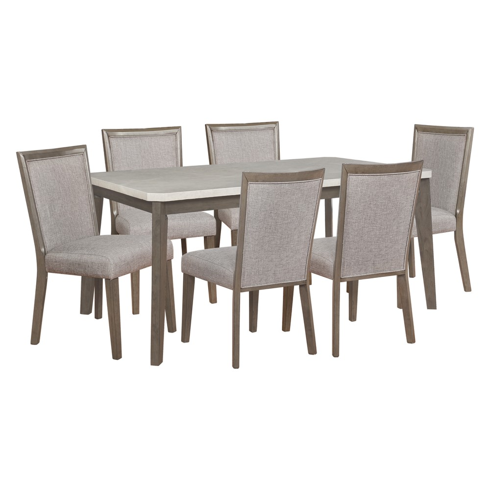 7pc Primm Dining Set Espresso Brown - Powell Company