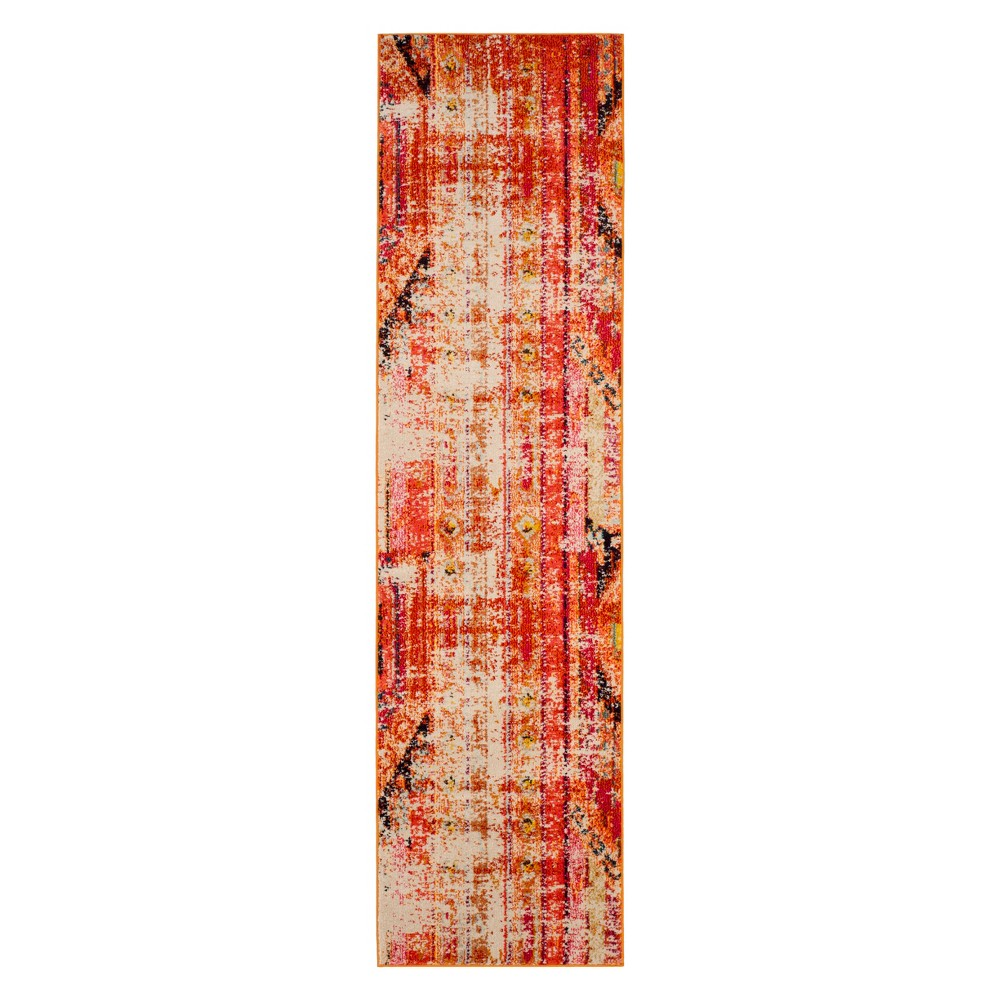 Tribal Design Runner Orange