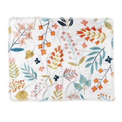 "50""x60"" 83 Oranges Botanical Harmony Woven Throw Blanket - Deny Designs"