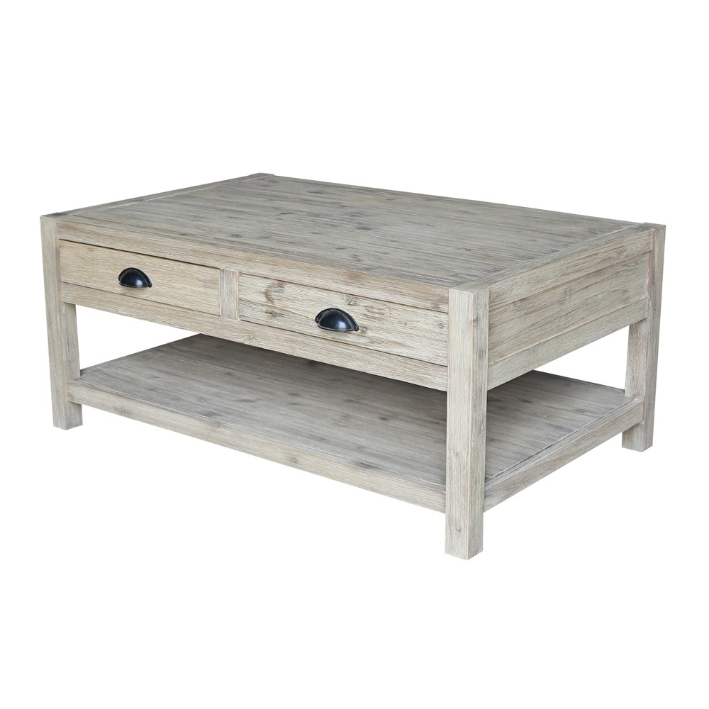 Modern Rustic Coffee Table Gray Wash - International Concepts