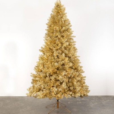 Sullivans 9' Champagne Pine Artificial Tree with Lights 9'H Gold