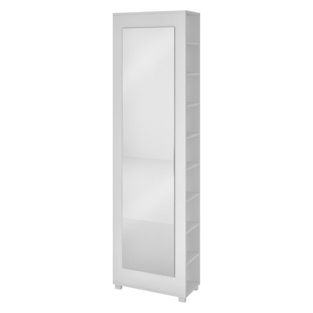 Valencia 2.0 Shoe Closet with Full Length Mirror White - Manhattan Comfort