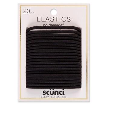 scunci No Damage Elastics - 4mm/20ct