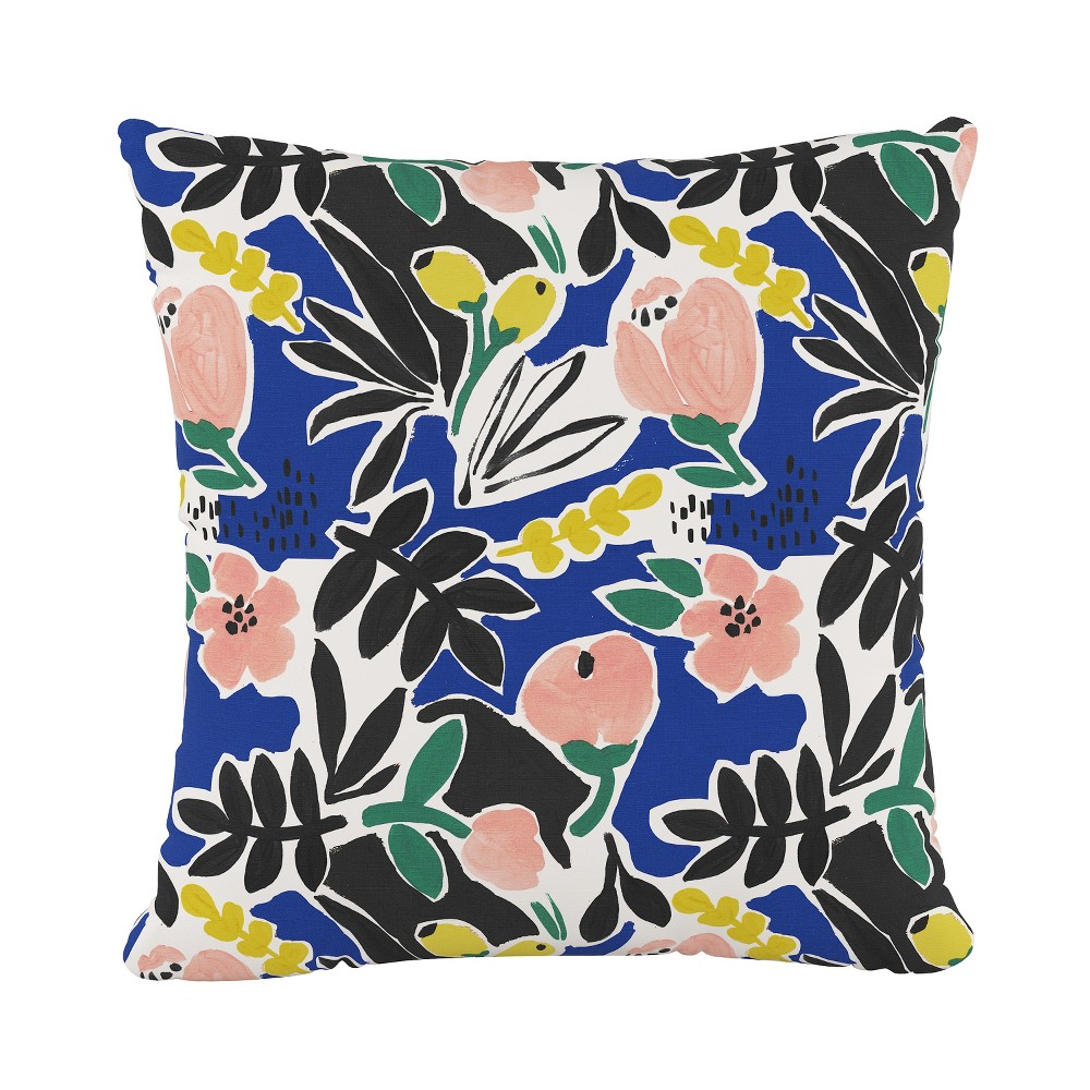 Floral Square Throw Pillow Peach (Pink) - Cloth & Co.