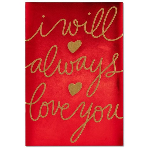 Super Jumbo I Will Always Love You Valentines Day Card With Glitter Target