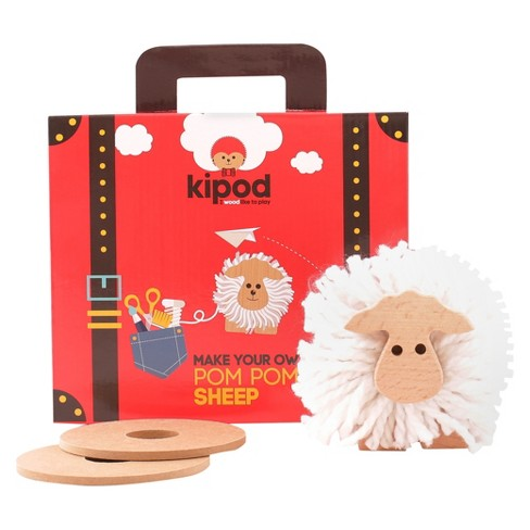 Kipod Create Your Own Pom Pom Sheep Wooden Toy - image 1 of 8