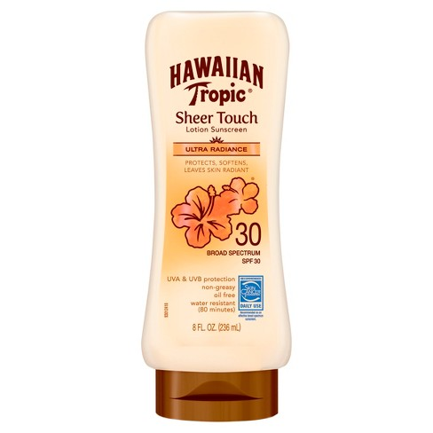 Hawaiian Tropic Sheer Touch Ultra Radiance Lotion Sunscreen - SPF 30 - 8oz - image 1 of 4