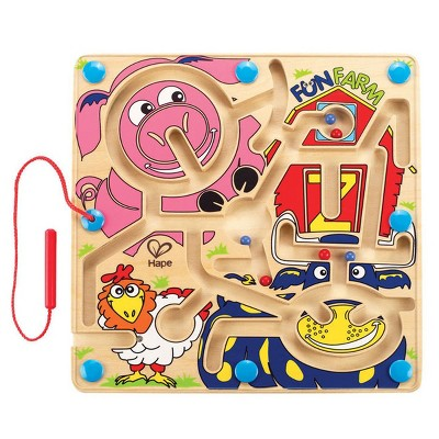 HAPE Fun Farm Magnetic Maze - Wooden Toys for Preschool Kindergarten