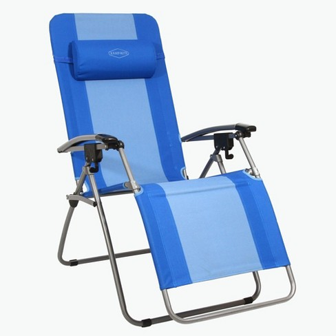 Kamp-Rite KAMPAC076 Outdoor Furniture Camping Beach Patio Sports Anti Gravity Folding Reclining Chair, Blue - image 1 of 4