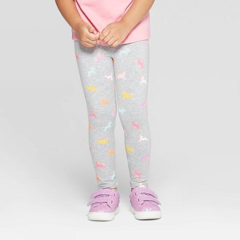Toddler Girls' Unicorn Leggings - Cat & Jack™ Gray - image 1 of 3