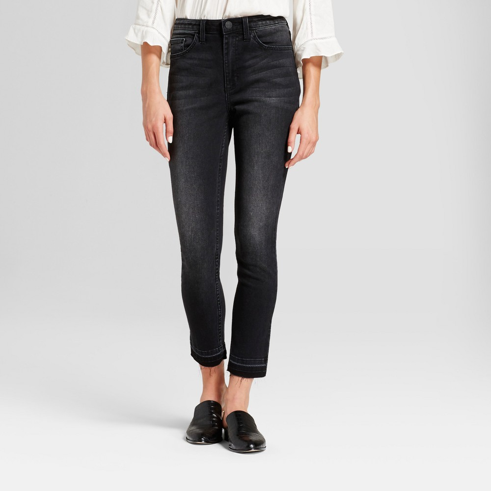 Women's Modern Fit High Rise Released Hem Skinny Jeans - Crafted by Lee Black 6 Long