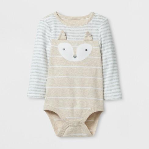b80d048943ff Baby 3pc Fox Bodysuit