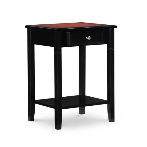 Calum Accent Table Black Cherry - Linon - image 1 of 4
