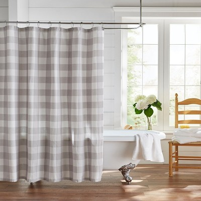 "Farmhouse Living Buffalo Check Shower Curtain - 72"" x 72"" - Elrene Home Fashions"