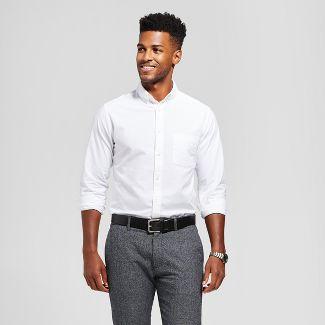 Men's Standard Fit Whittier Oxford Button-Down Shirt - Goodfellow & Co™ White XL