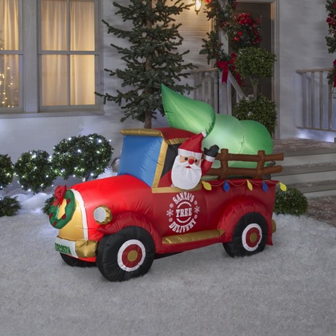 christmas led santas tree delivery truck inflatable wondershop target - Inflatable Christmas