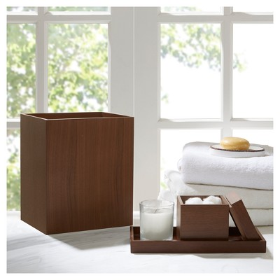 Bath Accessory Set Cherry Wood Grain