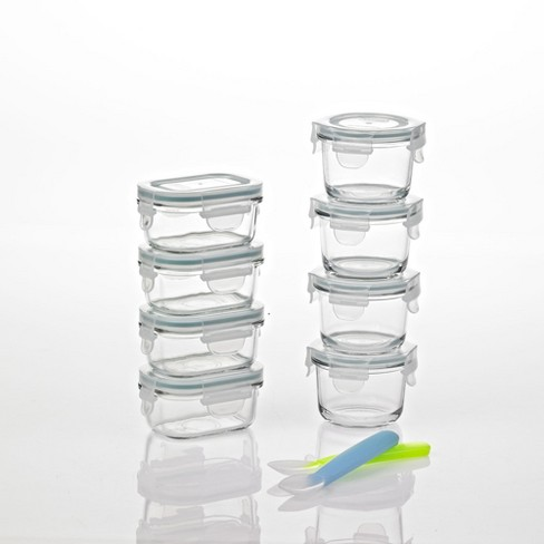 Glasslock Homemade Baby Food BPA Free Glass Storage Containers 18 Piece Set - image 1 of 4