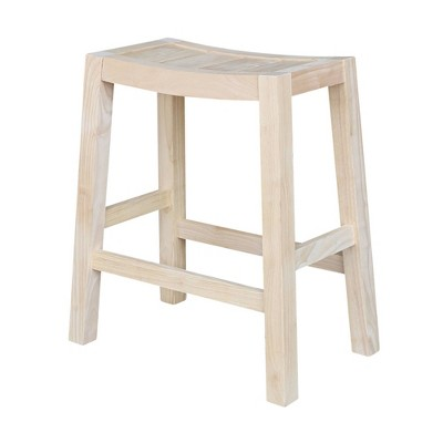 Ranch Stool Unfinished - International Concepts