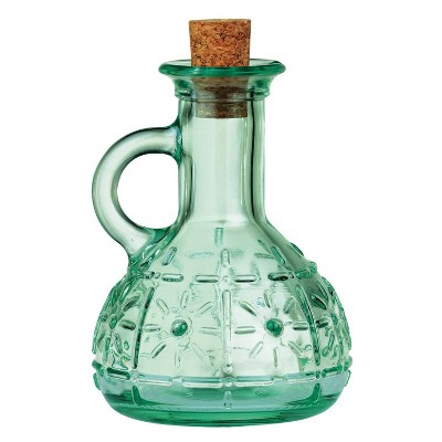 Bormioli Rocco 7oz Olive Oil Dispenser Bottle with Cork Green