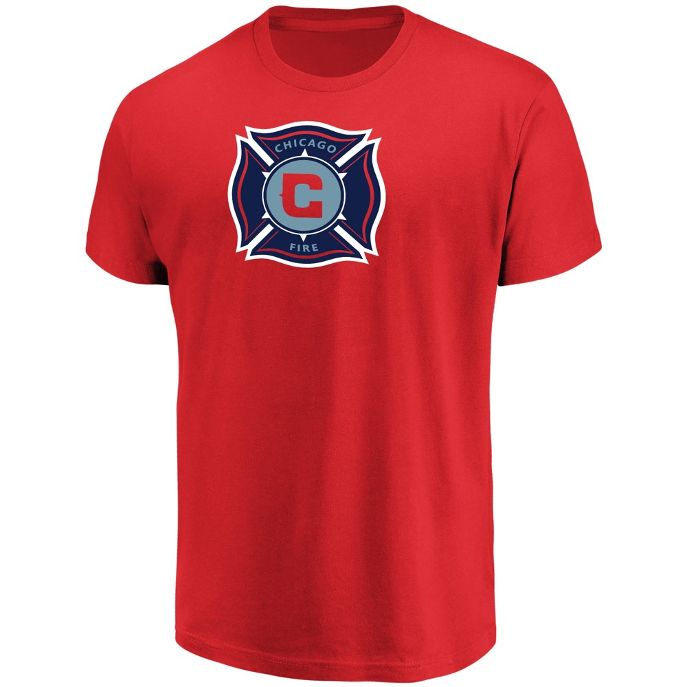Mls Men's Short Sleeve Top Ranking Core T-Shirt Chicago Fire - M, Multicolored