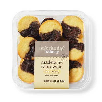 Madeleine Cookies and Brownie Duo - 12ct - Favorite Day™