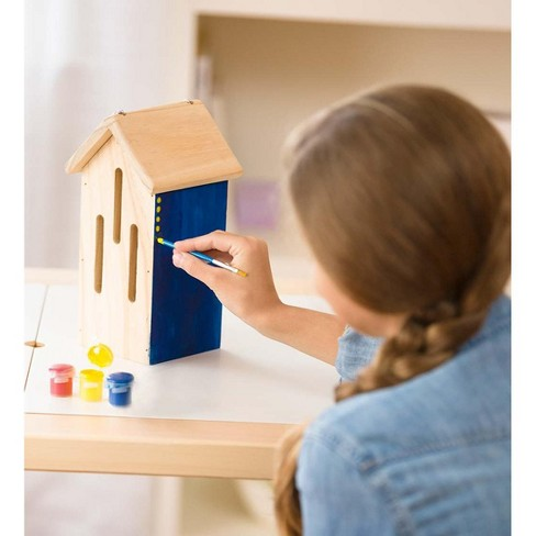 Color Pops Paint-Your-Own Classic Wooden Hanging Butterfly House Craft Kit - Hearthsong - image 1 of 2