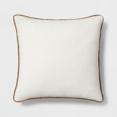 Jute Trim Oversize Square Throw Pillow White - Threshold™