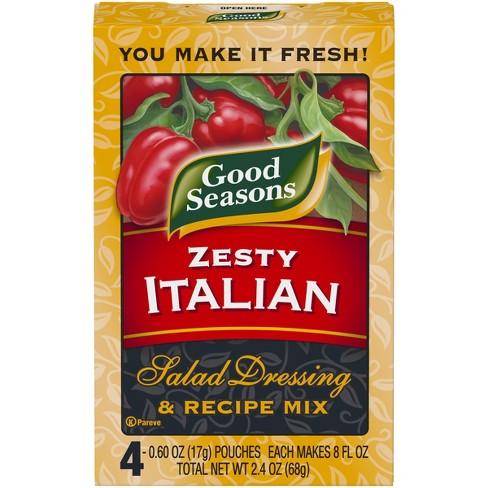 Good Seasons Zesty Italian Dressing & Recipe Mix 4ct - image 1 of 3