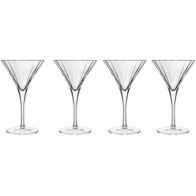 Luigi Bormioli Bach Crystal 8.25 Ounce Martini Glass, Set of 4